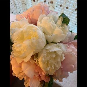 Other - Pink and Ivory Silk Flower Wedding Bouquets